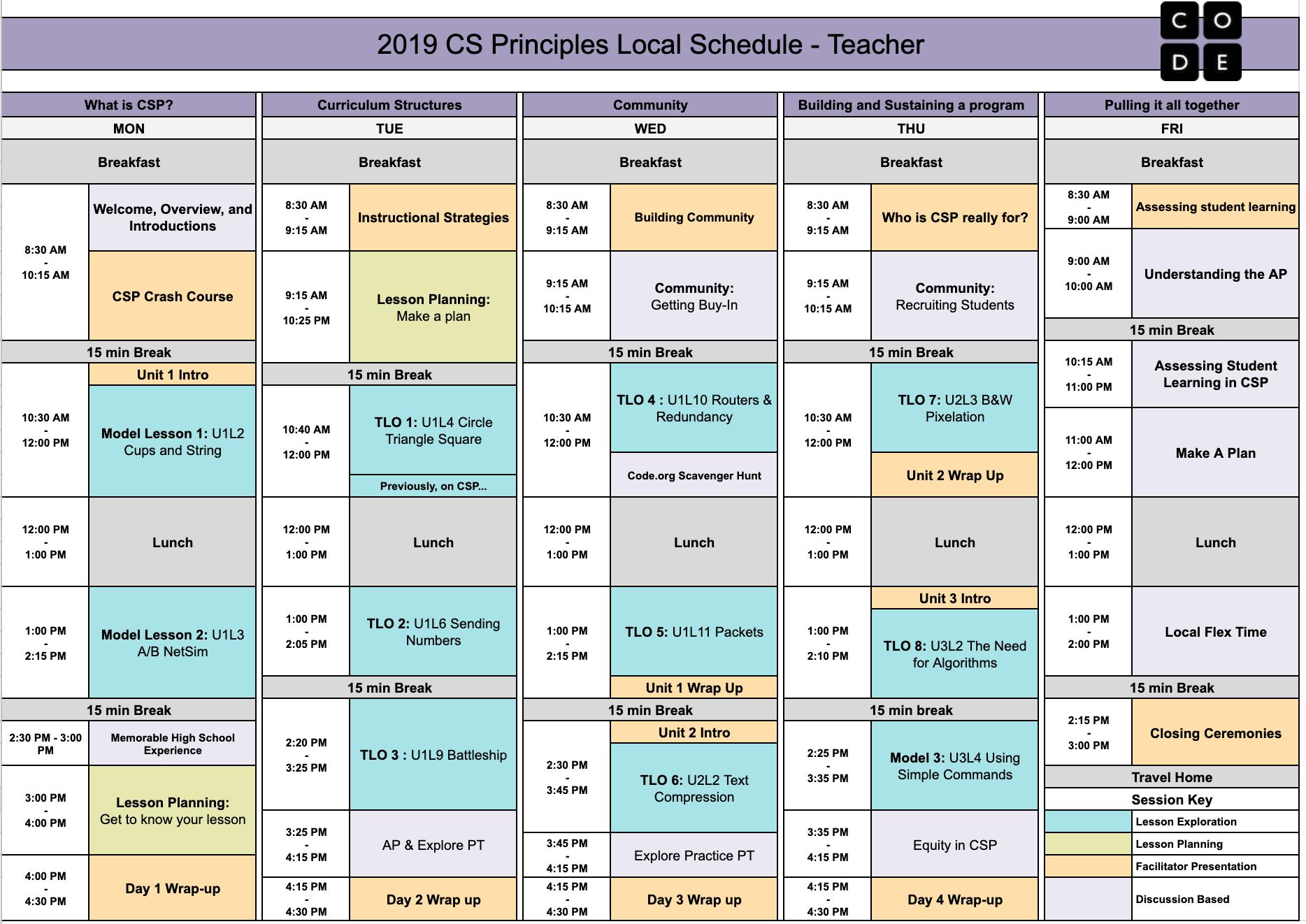 CS Principles Facilitator Resources 2019 | 2019 CS